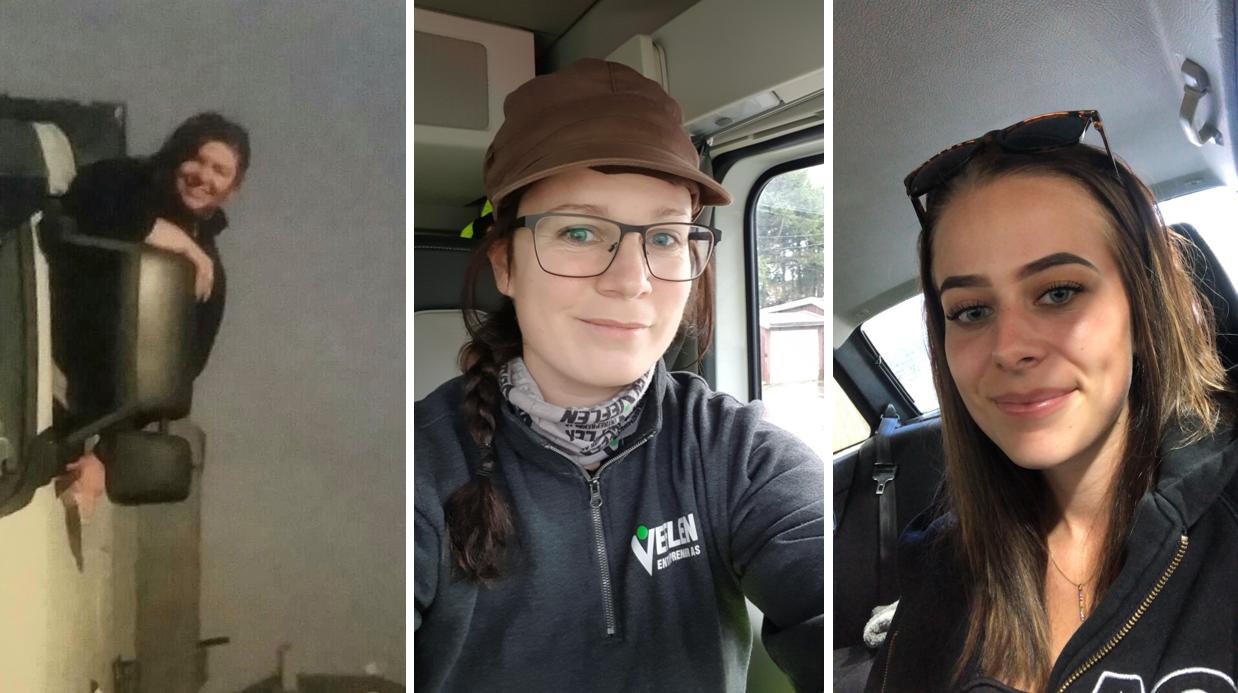 3 kvinnelige ansatte hos Veflen